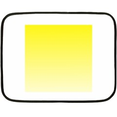 Cadmium Yellow To Cream Gradient Mini Fleece Blanket (Two-sided)