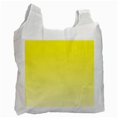 Cadmium Yellow To Cream Gradient Recycle Bag (one Side)