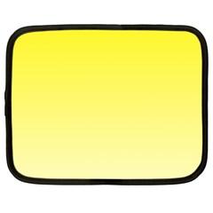 Cadmium Yellow To Cream Gradient Netbook Case (XL)