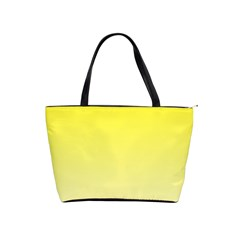 Cadmium Yellow To Cream Gradient Large Shoulder Bag