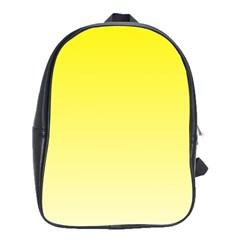 Cadmium Yellow To Cream Gradient School Bag (Large)