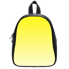 Cadmium Yellow To Cream Gradient School Bag (Small)