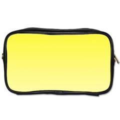 Cadmium Yellow To Cream Gradient Travel Toiletry Bag (Two Sides)