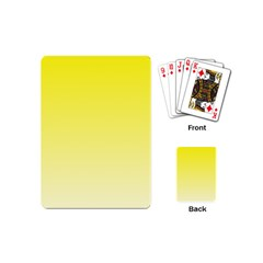 Cadmium Yellow To Cream Gradient Playing Cards (Mini)
