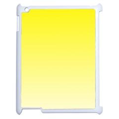 Cadmium Yellow To Cream Gradient Apple Ipad 2 Case (white)