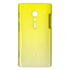 Cadmium Yellow To Cream Gradient Sony Xperia ion Hardshell Case