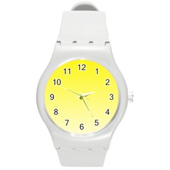 Cadmium Yellow To Cream Gradient Plastic Sport Watch (medium)
