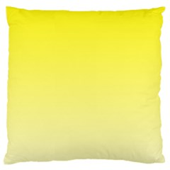 Cadmium Yellow To Cream Gradient Large Cushion Case (Two Sides)
