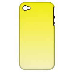 Cadmium Yellow To Cream Gradient Apple iPhone 4/4S Hardshell Case (PC+Silicone)