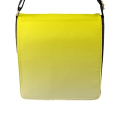 Cadmium Yellow To Cream Gradient Flap Closure Messenger Bag (large)