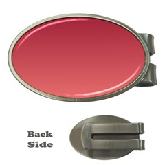 Burgundy To Pastel Red Gradient Money Clip (Oval)