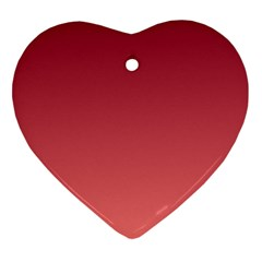 Burgundy To Pastel Red Gradient Heart Ornament (two Sides)
