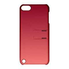 Burgundy To Pastel Red Gradient Apple iPod Touch 5 Hardshell Case with Stand