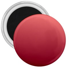 Pastel Red To Burgundy Gradient 3  Button Magnet