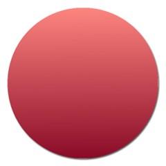 Pastel Red To Burgundy Gradient Magnet 5  (round)