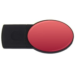 Pastel Red To Burgundy Gradient 1GB USB Flash Drive (Oval)