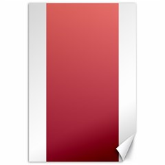 Pastel Red To Burgundy Gradient Canvas 20  x 30  (Unframed)