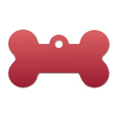 Pastel Red To Burgundy Gradient Dog Tag Bone (one Sided)