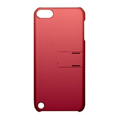 Pastel Red To Burgundy Gradient Apple Ipod Touch 5 Hardshell Case With Stand