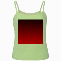 Dark Scarlet To Red Gradient Green Spaghetti Tank