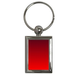 Dark Scarlet To Red Gradient Key Chain (Rectangle)