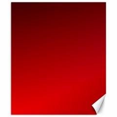 Dark Scarlet To Red Gradient Canvas 8  X 10  (unframed)