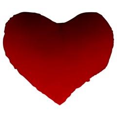 Dark Scarlet To Red Gradient 19  Premium Heart Shape Cushion