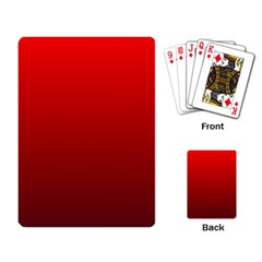 Red To Dark Scarlet Gradient Playing Cards Single Design