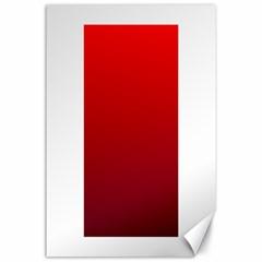 Red To Dark Scarlet Gradient Canvas 24  x 36  (Unframed)