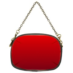 Red To Dark Scarlet Gradient Chain Purse (Two Side)