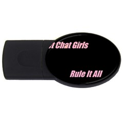 Petchatgirlsrule 4GB USB Flash Drive (Oval)