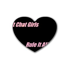 Petchatgirlsrule Drink Coasters (Heart)