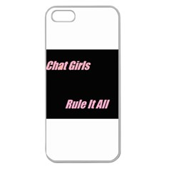 Petchatgirlsrule Apple Seamless iPhone 5 Case (Clear)