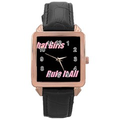 Petchatgirlsrule Rose Gold Leather Watch