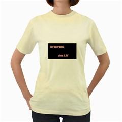 Petchatgirlsrule  Womens  T-shirt (Yellow)