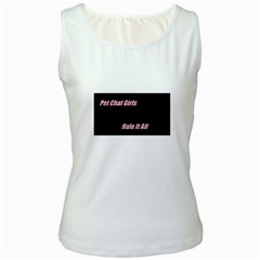 Petchatgirlsrule Womens  Tank Top (White)