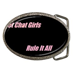 Petchatgirlsrule Belt Buckle (oval)