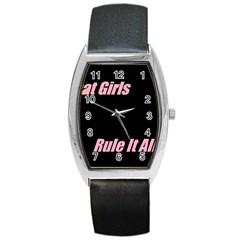 Petchatgirlsrule Tonneau Leather Watch