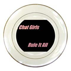 Petchatgirlsrule Porcelain Display Plate