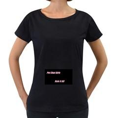 Petchatgirlsrule Womens' Maternity T-shirt (Black)