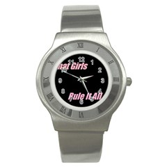 Petchatgirlsrule Stainless Steel Watch (unisex)