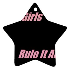 Petchatgirlsrule Star Ornament (Two Sides)