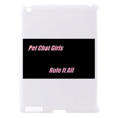 Petchatgirlsrule Apple iPad 3/4 Hardshell Case (Compatible with Smart Cover)