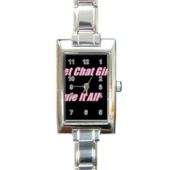Petchatgirlsrule2 Rectangular Italian Charm Watch