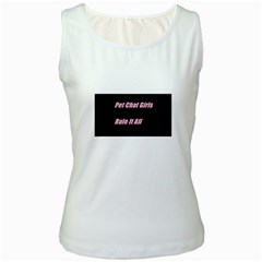 Petchatgirlsrule2 Womens  Tank Top (White)