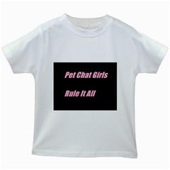 Petchatgirlsrule2 Kids' T Shirt (white)