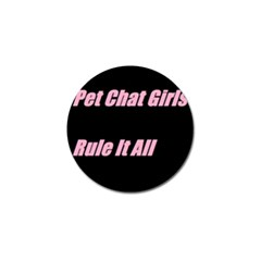 Petchatgirlsrule2 Golf Ball Marker 4 Pack