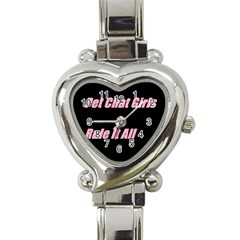Petchatgirlsrule2 Heart Italian Charm Watch