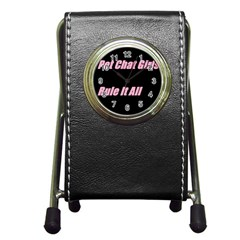 Petchatgirlsrule2 Stationery Holder Clock