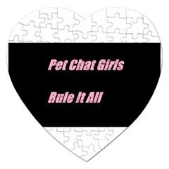 Petchatgirlsrule2 Jigsaw Puzzle (Heart)